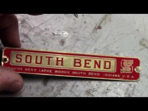 "13"" Southbend Refurb: Name Plate Resto + Gibb Repair"