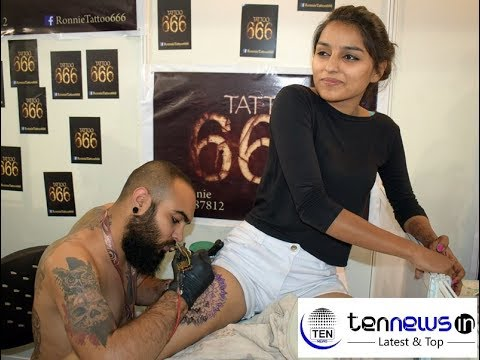 Indian Girl Getting Tattoo at 3rd Edition of Heartwork Tattoo Festivals| Delhi | Kat Von D
