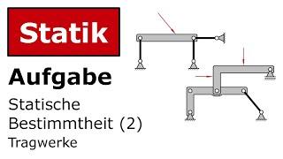 🔧 Statische Bestimmtheit (2) [Technische Mechanik, Statik, Tragwerke]
