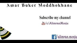 Amar Buker Moddhokhane [Bangla Karaoke with lyrics]