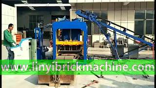 Load QT4-18 automatic concrete block making machine delivery to Kenya customer