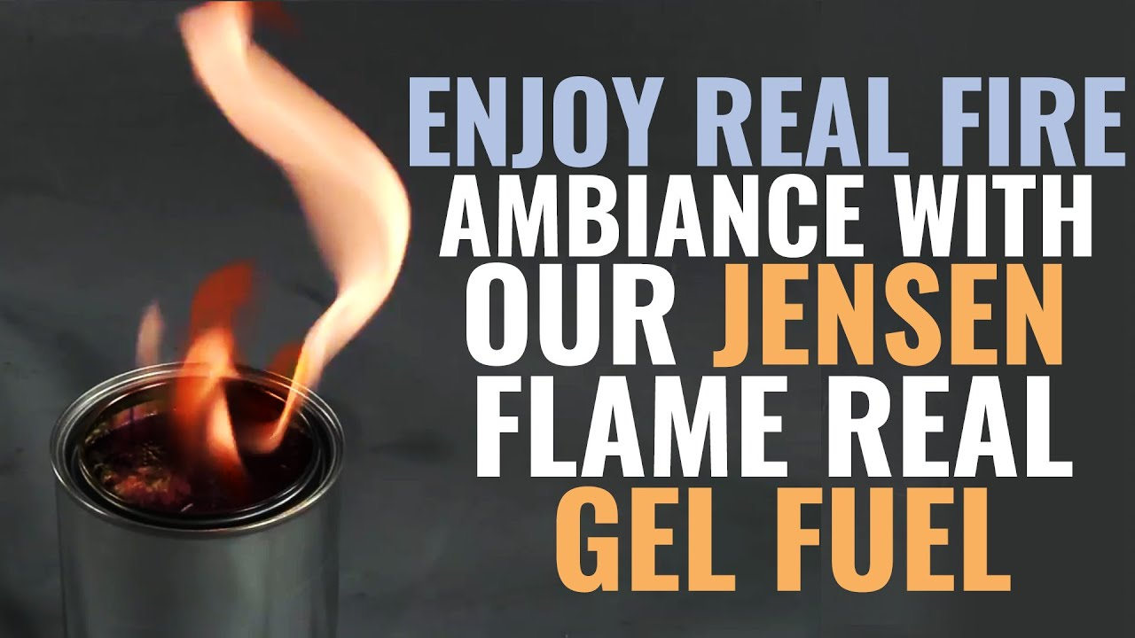 enjoy real fire ambiance with our jensen real flame gel fuel youtube