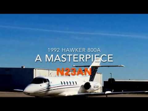 Hawker 800A N23AN Movie