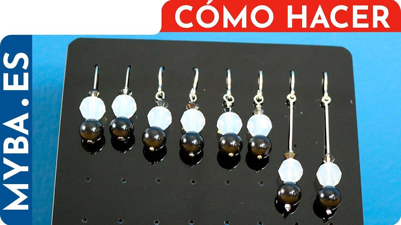 07c53ff935e0 Cómo hacer pendientes con bastones DIY. Pendientes a juego con choker o  collar.