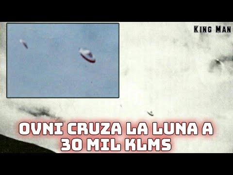 OVNI gigante de 800 metros de diámetro cruza la Luna a más de 30 mil kilómetros por hora
