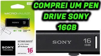 Unboxing Pen Drive Sony 16 GB 2.0 - USM16GR/BM #PenDirveSony
