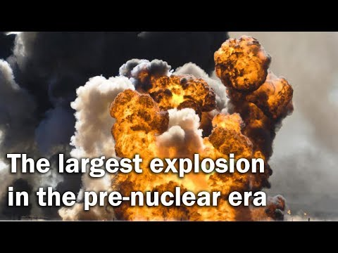 Halifax explosion - the largest in the pre-nuclear era