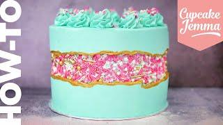 Full FAULT LINE CAKE Tutorial!  Cupcake Jemma