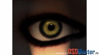 Обработка фотографии в фотошопе - Глаз дьявола