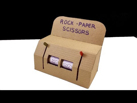 ✊✋✌️Rock Paper Scissors Play Machine DIY from cardboard