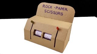 ✊✋✌️Rock Paper Scissors Play Machine DIY from cardboard