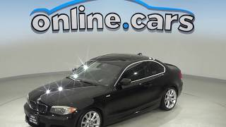 C10059JA Used 2012 BMW 1 Series 135i RWD 2D Coupe Black Test Drive, Review, For Sale