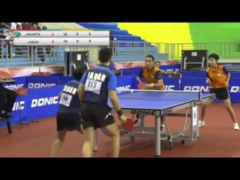 FINAL PON TENIS MEJA 2016 GANDA CAMPURAN JABAR ( Yon & Nuni ) VS DKI JAKARTA ( David & Mira )