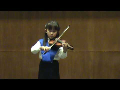 Natalia Plays Gavotte from Mignon A. Thomas Suzuki Violin Book 2