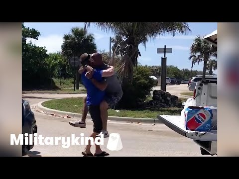 Man jumps into BFF's arms after 3 years apart   Humankind