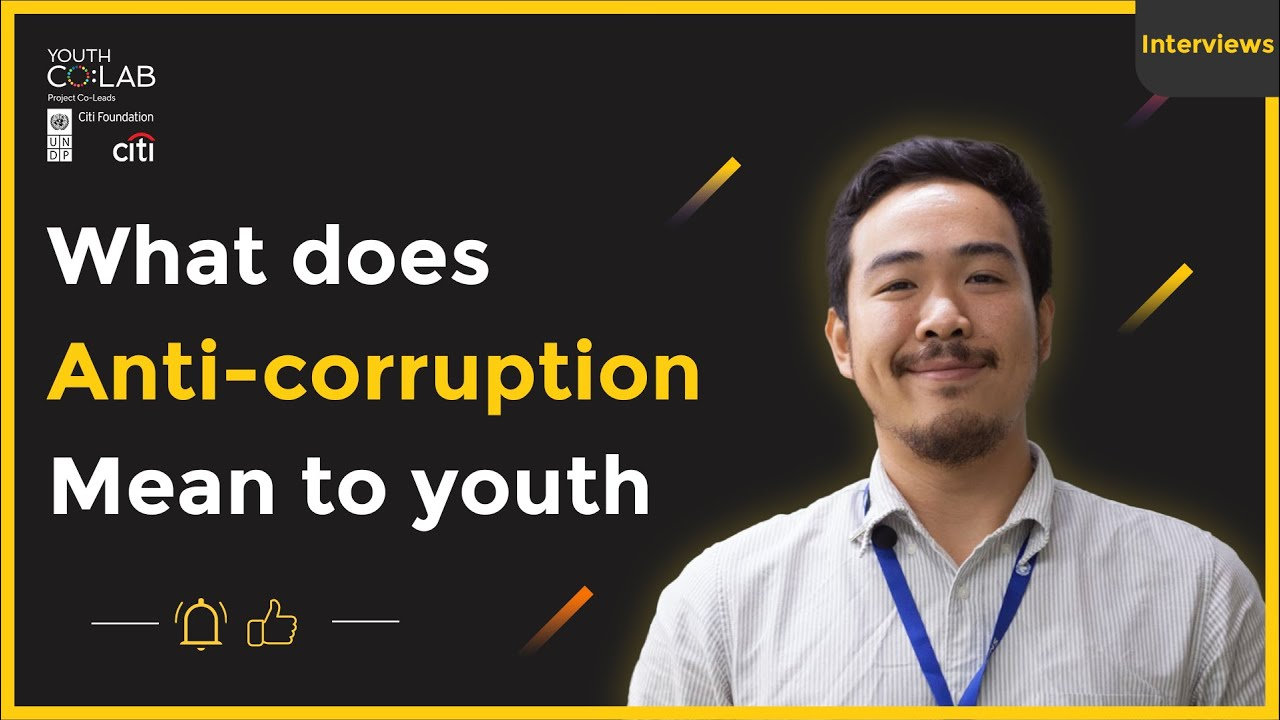 What does Anti-corruption mean to youth?