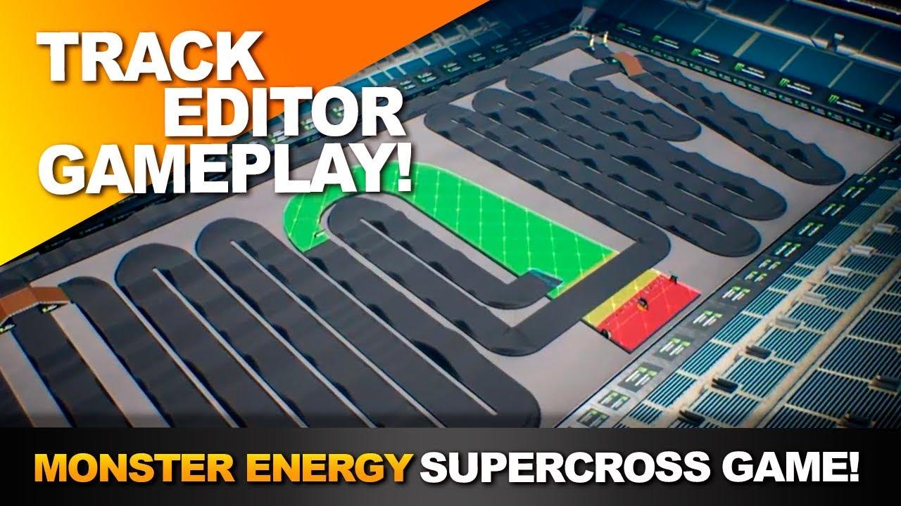 track editor monster energy supercross game. Black Bedroom Furniture Sets. Home Design Ideas