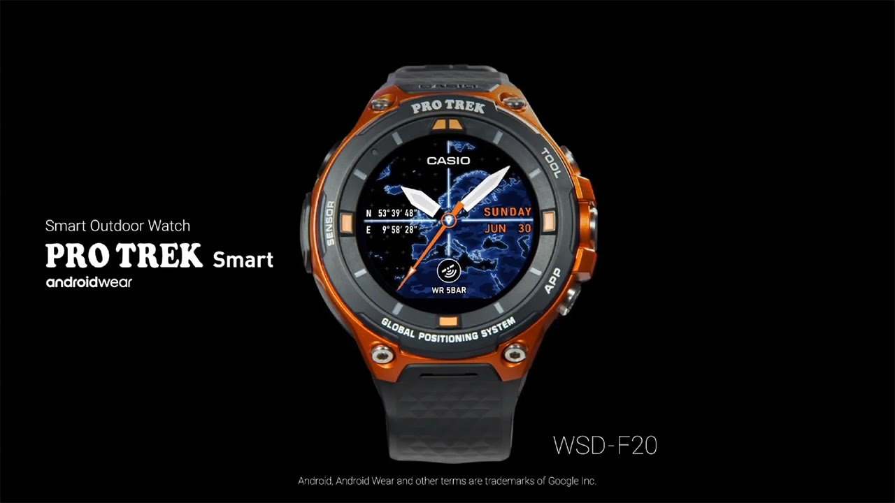 d008bcac471 CASIO - Android Wear  PRO TREK Smart  WSD-F20 - YouTube