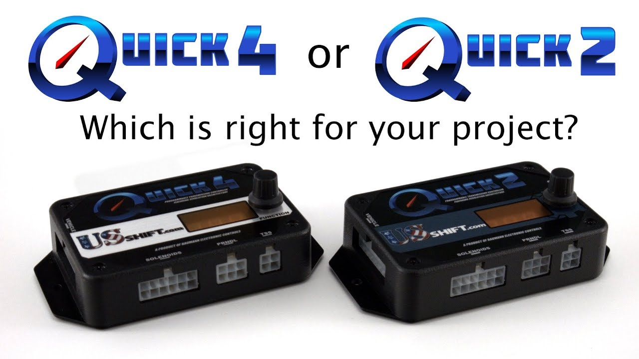 Quick 4 or Quick 2    Which is right for your project?