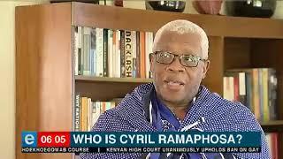 How Ramaphosa grew in politics?