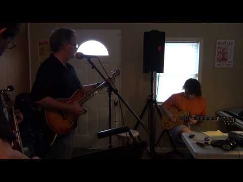 Marc Welling, my grandson Gabe and I playing Johnny Cash's Folsom Prison Blues