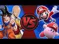 Goku And Saitama Vs Mario And Kirby! (anime Vs Video Games) Cfc Bonus Episode 27 video