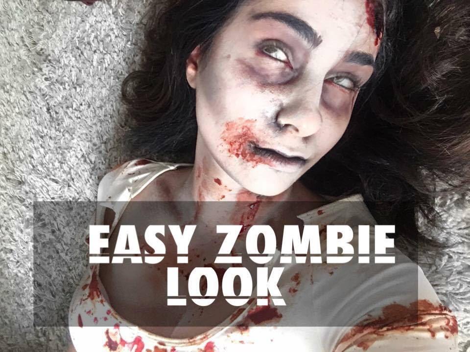 EASY WALKING DEAD INSPIRED ZOMBIE LOOK (no latex) - YouTube