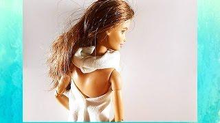 Платье и топик для куклы Барби.(Видео мастер класс, как сшить просто и легко платье для кукол из трикотажного материала. На канале вы найде..., 2016-07-07T14:30:00.000Z)