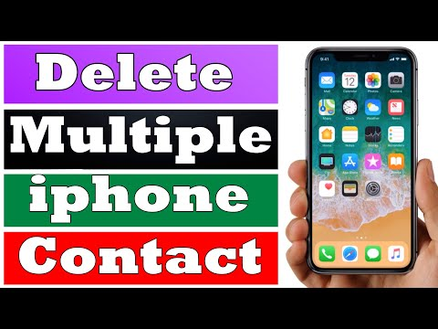 How to Delete Multiple Contacts From iPhone.
