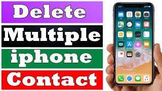 How to Delete ALL Your iPhone Contacts!.