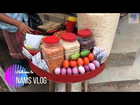 Famous Jhalmuri at Monipur/ Street food of Bangladesh / Nams Vlog