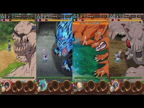 Naruto Shippuden: Ultimate Ninja Blazing - All Ninja Road #6 Boss Battles!