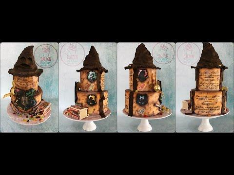Harry Potter Themed Cake Part 1 Youtube