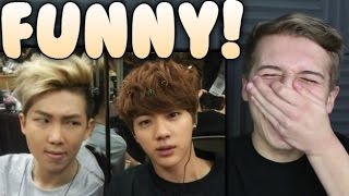 Namjin FUNNY Moments Reaction Namjoon Rap Monster and Jin