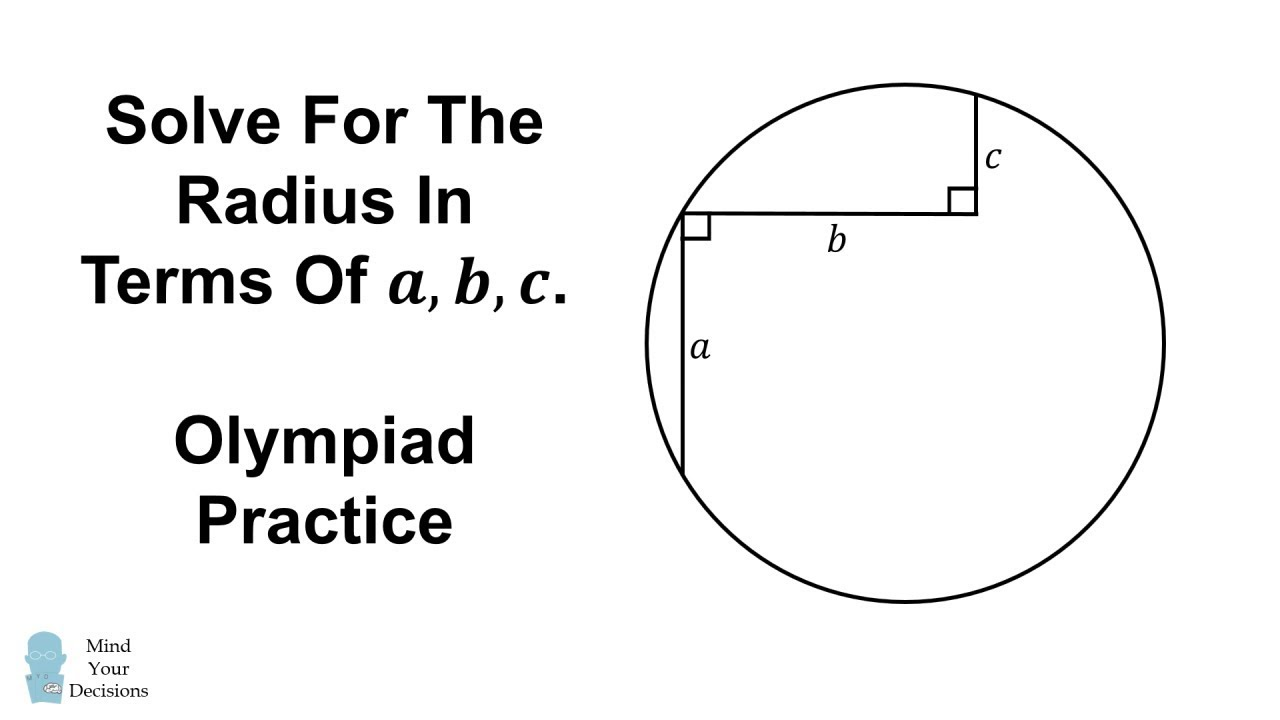 Solve For The Radius Harder Than It Looks Youtube