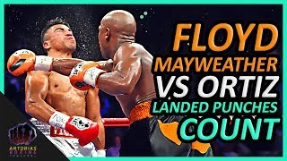 Floyd Mayweather Jr vs Victor Ortiz (Landed Punches Count)