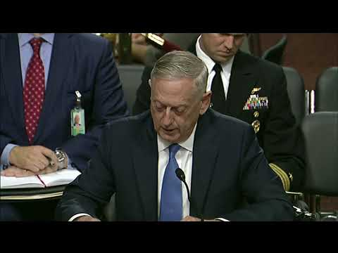 Mattis, Dunford Testify Before Senate Armed Services Committee