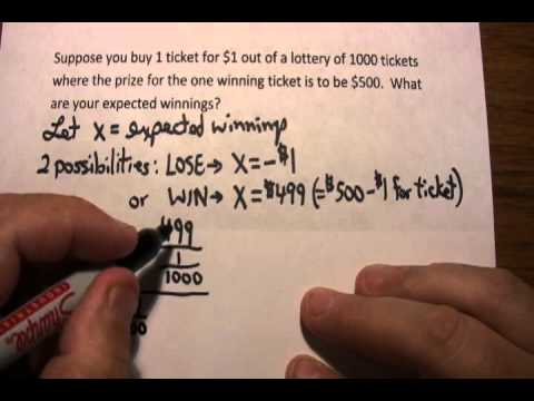 Expected Value: A Simple Lottery Problem