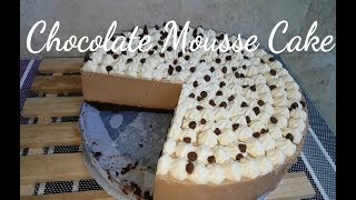 How to make No bake Chocolate Mousse Cake | Eggless Chocolate Mousse | Fudgee Barr Cake