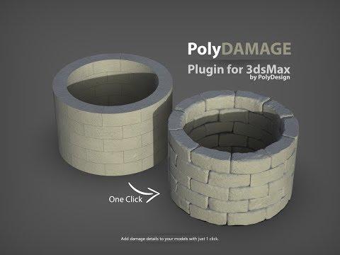 PolyDamage | 1 click damage | 3dsMax plugin