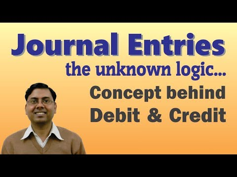 #1 Journal Entries Accounting (Introduction) ~ Concept Behind Rules Of Debit And Credit