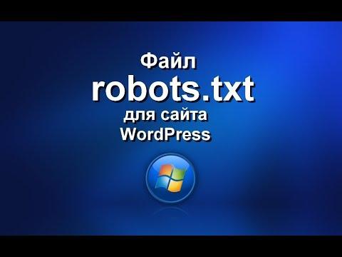 Файл robots.txt для сайта на WordPress