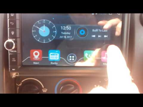 Erisin double din 7'' wifi car radio, ford transit, dash cam review