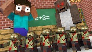 Monster School : GRANNY & TINY ZOMBIE APOCALYPSE Challenge - Minecraft Animation