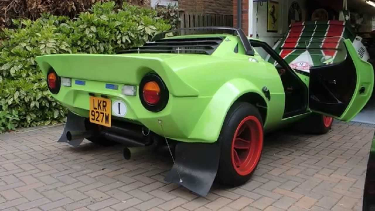Hawk Lime Green Lancia Stratos Replica On The Move