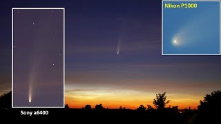 Beautiful Comet C/2020 F3 NEOWISE. It was a year ago. Timelapses & photos. Sony a6400 / Nikon P1000