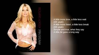Jessica Simpson 02 A Little Bit Lyrics