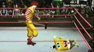 spongebob vs ronald mcdonald fca match dcw pt 2