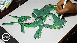 Drawing Rayquaza Pokemon Playmat