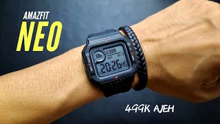 AMAZFIT NEO SMARTWATCH RETRO - UNBOXING REVIEW AND TEST HEARTRATE
